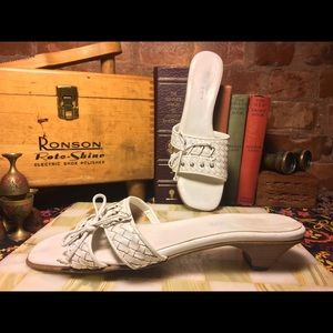 VTG Sesto Meucci Woven Slide Sandals 8.5